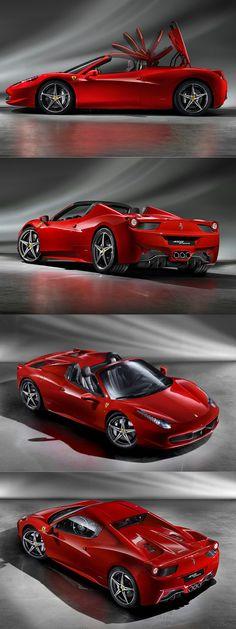 2011 Ferrari 458 Spider / 560hp 4.5l V8 / red / Italy / 17-296