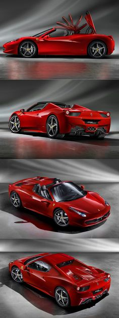 2011 Ferrari 458 Spider / 560hp 4.5l V8 / red / Italy / 17-296