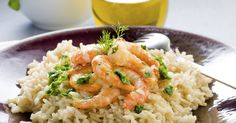 Risotto with seafood Seafood Recipes, Gourmet Recipes, Mexican Food Recipes, Dinner Recipes, Healthy Recipes, Ethnic Recipes, Shrimp And Rice, Spicy Shrimp, Rissoto