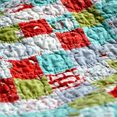 Christmas Leftovers quilt by AdrianneNZ, via Flickr