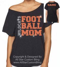 Custom Football Mom Off Shoulder Dolman Shirt