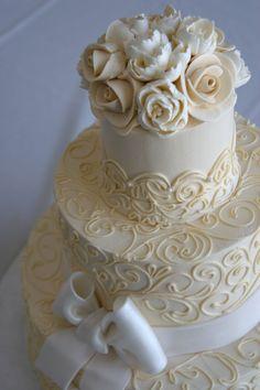 buttercream vintage wedding cakes | ... for Favorite Cakes of the Year(so far….) « White Flower Cake Shoppe #flowercakes #chocolateweddingcakes