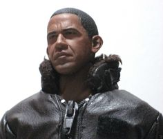 "Sideshow Hot Toys President Barack Obama 12"" 1:6 Action Figure Doll with Stand"