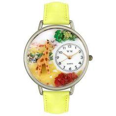 Whimsical Unisex Giraffe Yellow Leather Watch
