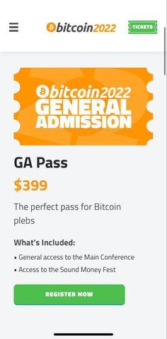 Bitcoin 2022 conference general admission ticket Make Money Today, Make Money Blogging, Make Money Online, How To Make Money, Wealth Management, Money Management, Wealth Quotes, Creating Wealth, Budgeting Finances