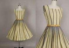 vintage 1950s dress 50s dress full skirt by NodtoModvintage, $180.00