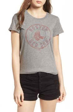 783b977a6c4 Boston Red Sox Woman s Shirt.  47 Boston Red Sox Fader Letter Tee. Cheer
