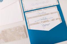 Blue and Silver Enclosure Invitation