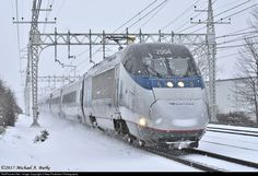 AMTK 2004 Amtrak Bombardier/Alstom Acela Express Trainset at West Haven, Connecticut by 3-Step Protection Photography