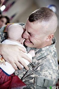 This photo brings tears to my eyes! Thank you to all of you leaving your loved ones to fight for us and our loved ones!