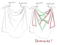 Folds imagined as triangles tutorial