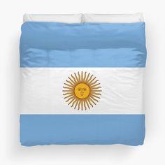 'Argentina Flag' Duvet Cover by ArgosDesigns Duvet Cover Sizes, Duvet Covers, Framed Prints, Canvas Prints, Art Prints, Argentina Flag, Art Boards, Wall Tapestry, Decorative Throw Pillows