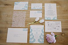 Invitations designed by the bride's sister, arielledesign.com set the tone for this Belle Mer wedding. Photography by snapri.com