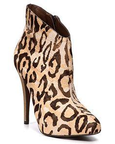 """#MadisonHarding """"Jaguar"""" Leopard Booties  PRICE: $210.00 #bloomingdales"""