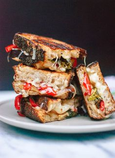 Grilled Cheese with Balsamic Roasted Vegetables