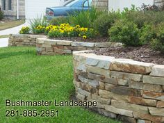 Natural Stone, raised beds