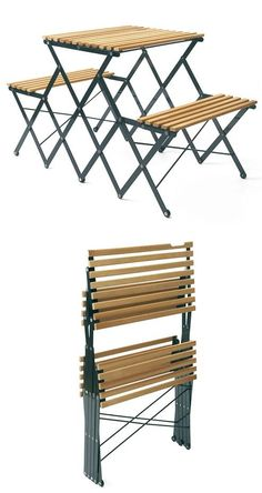 Foldable Bench-Table | http://www.likecool.com
