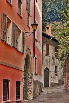 Mendrisio, Ticino, Switzerland, by elvetino and dide Beautiful Places In The World, Wonderful Places, Great Places, Canton Ticino, Clean Beach, Coffee Places, Italian Villa, Alleyway, Lugano