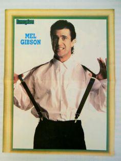 Mel Gibson 90210 Double Side Mini Poster 1980's Greek Magazine | eBay