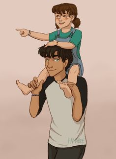 Percy Jackson and his new little sis fanart trials of apollo spoilers
