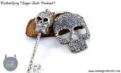 Redbalifrog Sugar Skull Pendant and Unlock Voodoo
