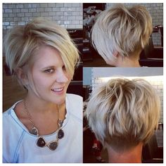 Under cut back to balance length of top and sides.