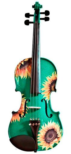 Rozanna's Violins Sunflower Delight Violin Outfit - Green - 1/8 Size - $229