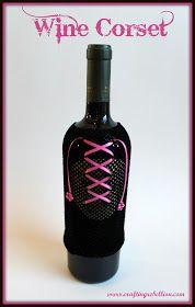 Crafting Rebellion: Halloween Leftovers= Wine Bottle Skins