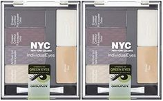 New York Color NYC Individual Eyes Shadow Compact SMOKEY GREENS 943 PACK OF 2 PALLETTES * For more information, visit image link.
