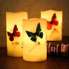 Amanda Set of 3 Flameless LED Candles Color Changing FlickerLight Mode Option Red Candles, Flameless Candles, Candle Lanterns, Tea Light Candles, Pillar Candles, Lantern Chandelier, Valentine Cupid, Color Changing Led