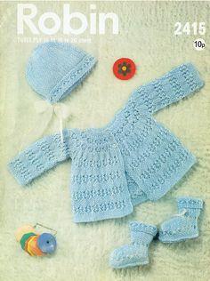 Knitting Patterns Vintage Robin 2415 baby matinee coat vintage knitting by Ellisadine, Knitting For Kids, Baby Knitting Patterns, Baby Patterns, Vintage Patterns, Crochet Patterns, Coat Patterns, Stitch Patterns, Pram Sets, Knit Baby Sweaters