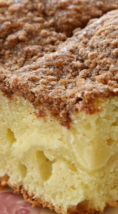 Cream Cheese Coffee Cake ~ Coffee cake that's been swirled with a cream cheese filling and topped with a crunchy, cinnamon-y, streusel topping... Positively delightful