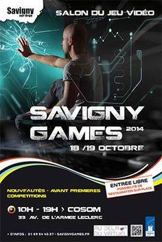 """Savigny Games : Salon du Jeu Vidéo les 18 et 19 octobre 2014 - Les Gamers, les amateurs et fans de jeux vidéo ont rendez-vous à Savigny-sur-Orge, les 18 et 19 octobre 2014 pour la 3ème édition du """" Savigny Games """". Proposant un espace de 700 m² entièrement ..."""
