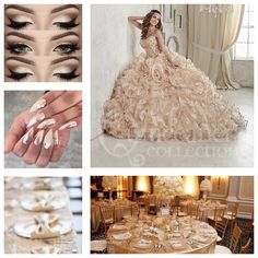 Champagne color theme | Quinceanera Theme Ideas | Quinceanera Ideas |