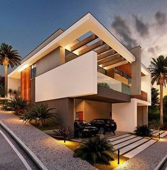 Home luxury exterior modern best ideas Modern Architecture House, Residential Architecture, Architecture Design, Amazing Architecture, Villa Design, House Front Design, Modern House Design, Contemporary Design, Style At Home