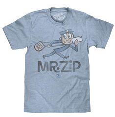 Tee Luv U.S. Mail Mr. Zip T-Shirt - Soft Touch USPS Shirt (Small) 799ea09de