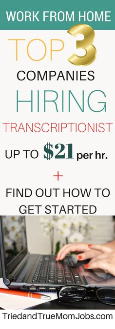 Remote Transcription Jobs that pay well are hard to come by but I've found them all. Find out the best companies to apply to and how much you can earn! Ways To Save Money, Money Tips, How To Make Money, Earn Money From Home, Earn Money Online, Companies Hiring, Online Jobs From Home, Money Saving Mom, Work From Home Tips