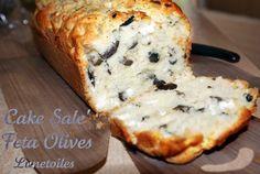 Recette - Cake salé feta olives | Notée 4.1/5