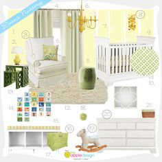 Yellow Nursery Inspiration Board | Project Nursery