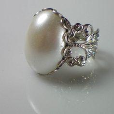 Beautiful Anne Boleyn Pearl Ring.