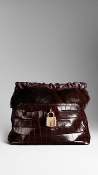 The Little Crush in Alligator and Mink | Burberry