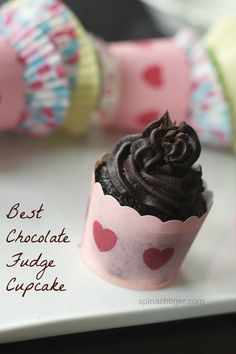 Best Chocolate Fudge Cupcakes and Chocolate Fudge Frosting. MADE IN ONE BOWL. SO Easy, yet my most popular from scratch cake. A must for a crowd.