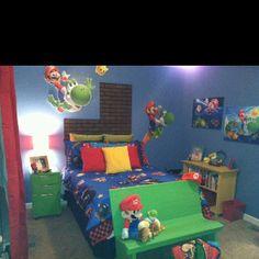 Mario Galaxy bedroom (Mom, Haley and Tiffany)