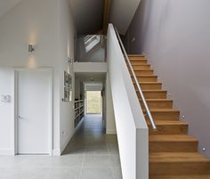 Scottish Highlands passive house, by owner/builders Jeanette & Jon Fenwick Conservatory Extension, Farmhouse Architecture, Modern Bungalow, Passive House, House Extensions, Story House, Built Environment, New Builds, House Plans