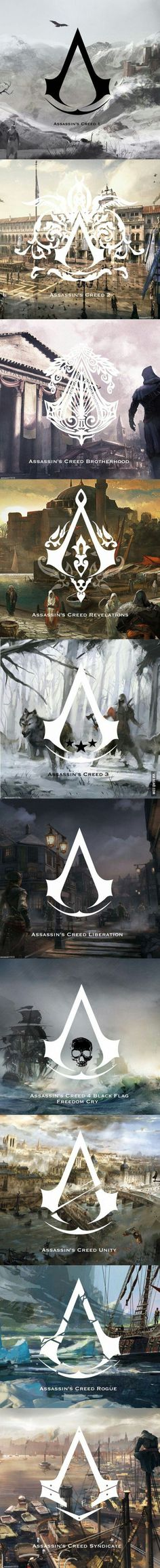 The symbols of assassin's creed