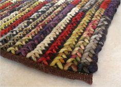 Alfombra Madison. Trenzado de lana multicolor.