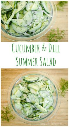 Cucumber & Dill Summer Salad A great 21 Day fix recipe that is an alternative to pasta salad! (vegetable snacks 21 day fix) Clean Eating Recipes, Cooking Recipes, Soup And Salad, Pasta Salad, Chicken Salad, Healthy Snacks, Healthy Eating, Healthy Nutrition, Vegetarian Recipes