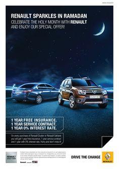 Renault Ramadan Ad on Behance Brand Advertising, Marketing And Advertising, Advertising Ideas, Marketing Ideas, Email Marketing, Cgi, Standee Design, Banner Design, Photo Manipulation Tutorial