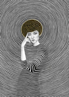 Nuanced Portraits of Women Merged With Abstract Environments by Sofia Bonati (Colossal) Psychedelic Art, Sofia Bonati, Colossal Art, Art Abstrait, Art Graphique, Surreal Art, Oeuvre D'art, Collage Art, Art Inspo