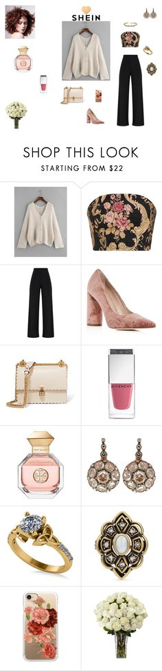 """""""SheIn Sweater"""" by browncoat4ever ❤ liked on Polyvore featuring Pour La Victoire, Fendi, Givenchy, Tory Burch, Selim Mouzannar, Allurez, Gucci and Casetify"""